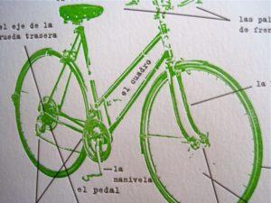 Letterpress bike