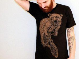 Bear on Bike Tee