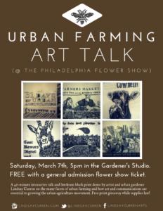 Urban farming art talk