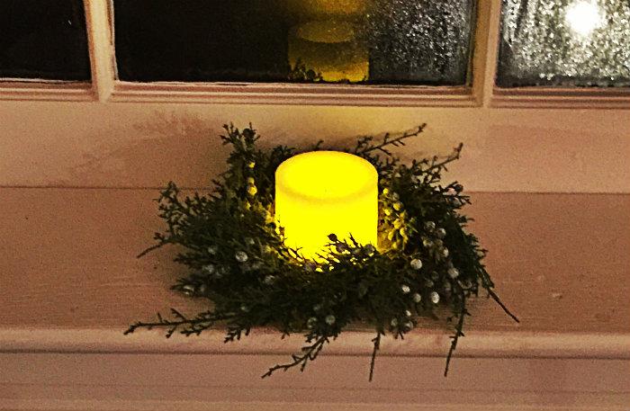 juniper wreath candle