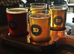The pick four flight at Spencer Devon Brewing