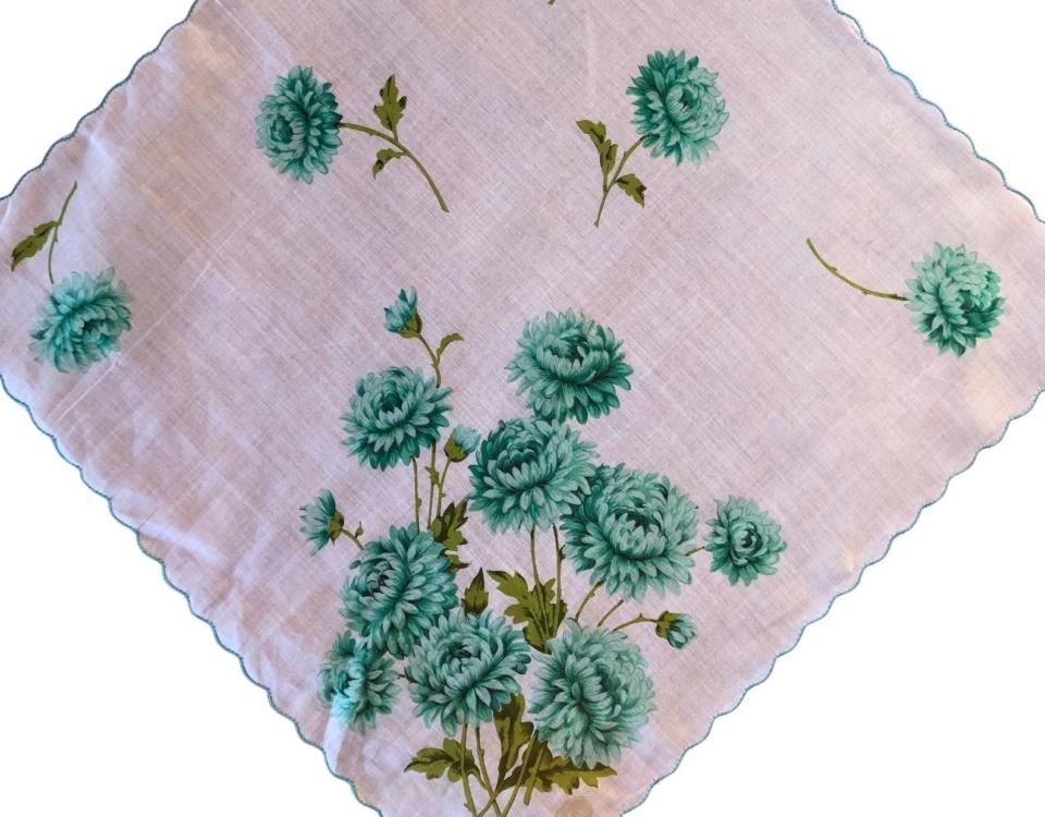 Vintage Chrysanthemum Hankie