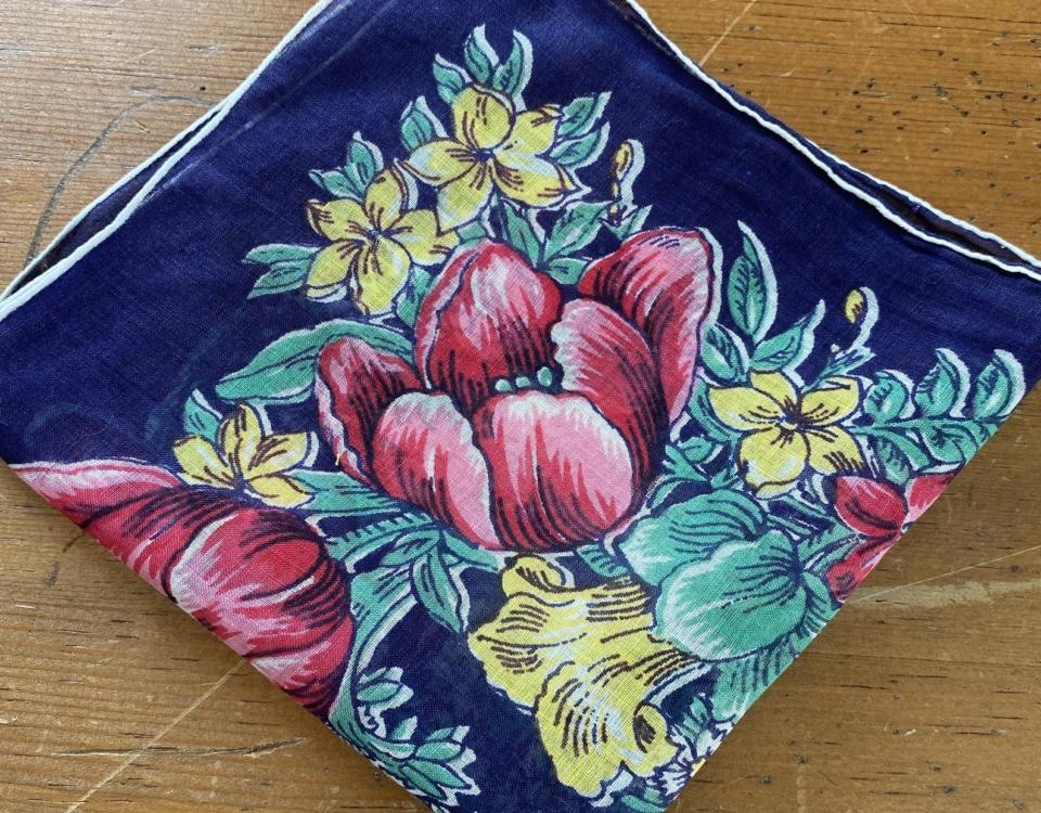 Vintage Tulip Handkerchief