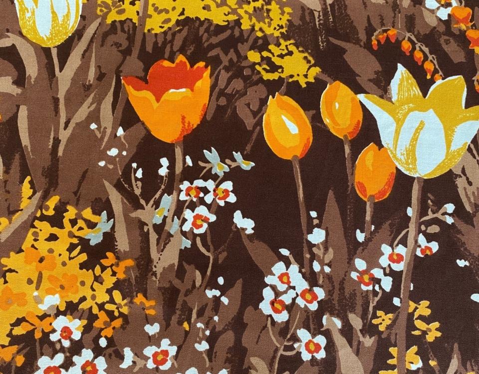 Vintage Bloomcraft Fabric